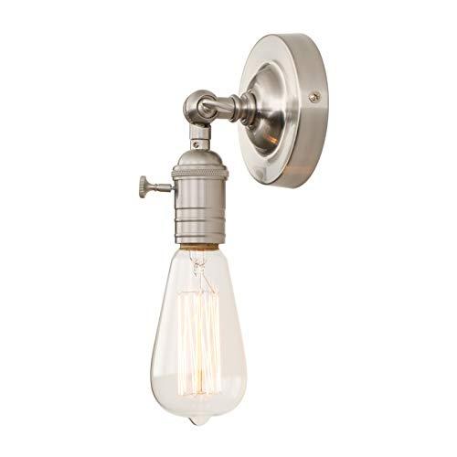 Phansthy Vintage Industrie Loft-Wandlampen Wandbeleuchtung Wandleuchten Antik Deko Design Wandbeleuchtung Küchenwandleuchte (Gebürsteter Edelstahl Farbe)