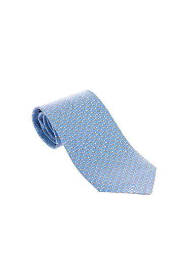 Salvatore Ferragamo Luxury Fashion Herren 358798 Hellblau Krawatte |