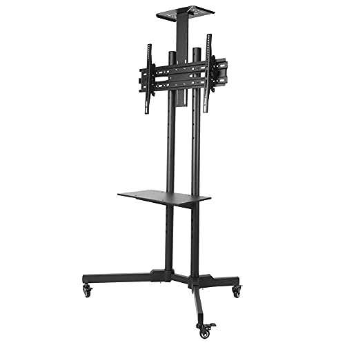 N&W TV Stand TV Bracket 32-65in LCD TV Mobile Bracket TV Stand Trolley Mobile TV Cart with Wheels for Meeting Office