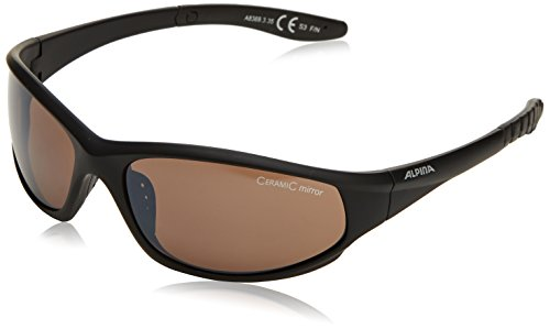 ALPINA Sonnenbrille WYLDER Outdoorsport-brille, Black Matt, One Size