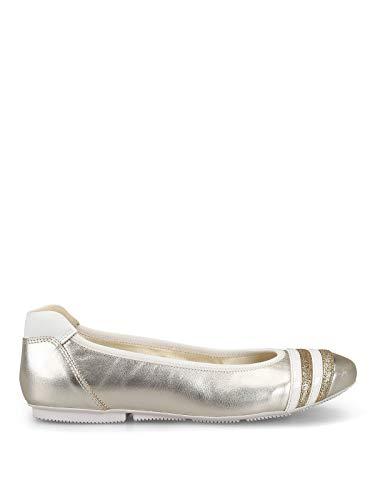 Luxury Fashion | Hogan Dames HXW1440BL30I812917 Beige Leer Ballerina's | Seizoen Outlet