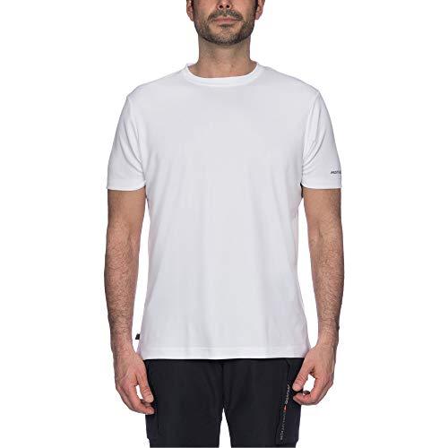 Musto Heren Zonnescherm Permanent Wicking UPF30 T-shirt Tee Top Wit - Lichtgewicht korte mouw