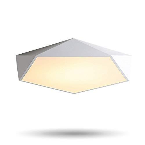 Regulable Lámparas De Techo LED Diseño Geometría Creativa Luminaria Salón Pasillo Balcón Lampe Plafond Chambre Iluminación De Techo, Negro D40CM, Warn White Yang1mn