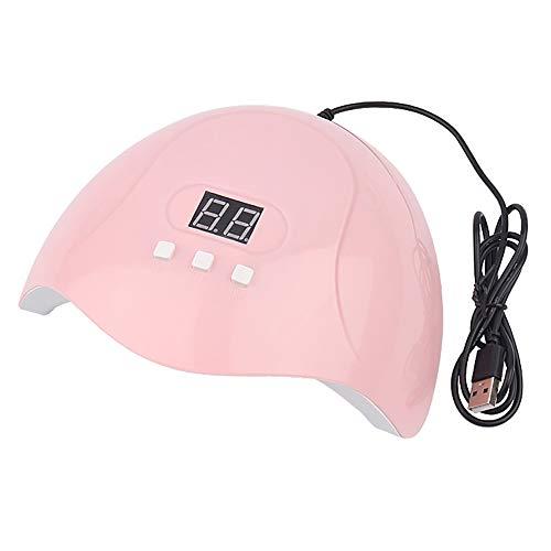 Nrpfell LáMpara LED UV de 54 W, LáMpara Secadora de UUAs LED de 18 Piezas para Curar Todos los Tipos de Geles de UUAs, Herramienta de Esmalte de UUAs con Temporizador 30S / 60S / 90S