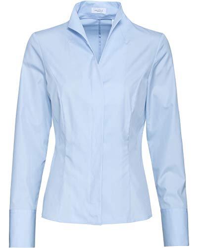 van Laack Damen Alice-NOS Bluse, Blau (Hellblau 715), 44