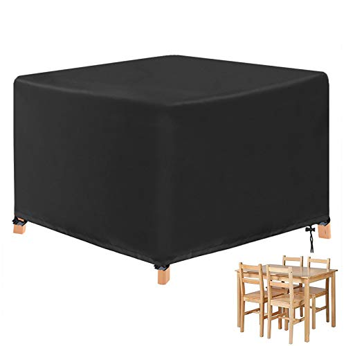 YuYo Cube Garden Furniture Covers, Garden Table Cover Square Heavy Duty Oxford Waterproof Cover for Patio Cube Set - 123 x 123 x 74CM