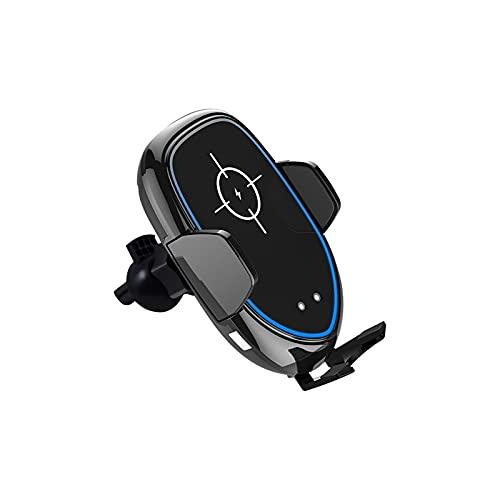 HLVU Soporte para Teléfono para Automóvil con Rotación De 360 ° Cargador Automotriz Inalámbrico Rápido 10W Frame Automático
