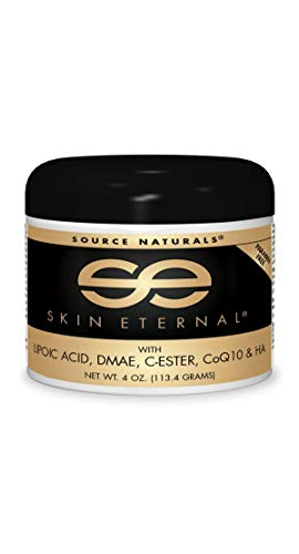 Source Naturals Skin Eternal Cream, with Lipoic Acid, DMAE, C-Ester & CoQ10, 4 oz (113.4 g)