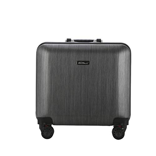 fosa1 Hand Luggage Trolley case ABS + PC Trolley Case, Brushed Design Style Luggage, Universal Wheel Boarding Fashion Suitcase 18 Inches (Color : Gray)