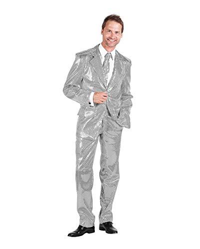 Herren Anzug mit Pailletten Silber für EIN ausgefallenes Party Outfit 60