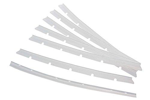 vhbw 6X Gummilippen kompatibel mit Neato Botvac 70E Saugroboter - Austausch-Lamellen Set inkl. Abzieher, transparent