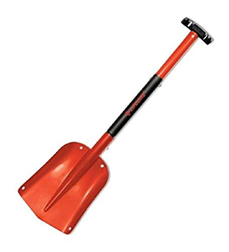 Lifeline Aluminum Sport Utility Shovel, 3 Piece Collapsible Design, Perfect Snow Shovel for Car, Camping and Other Outdoor Activities, Red