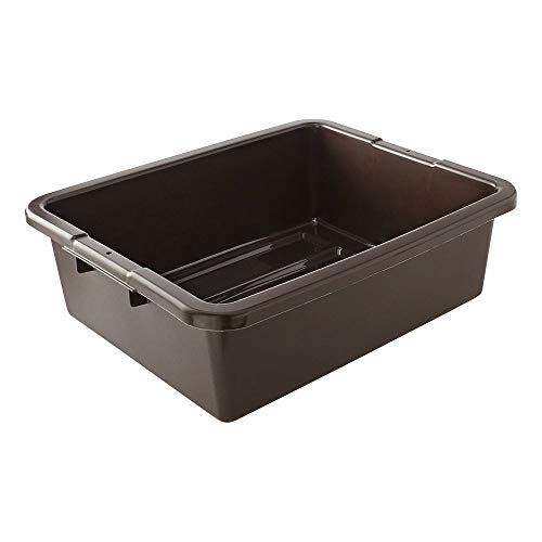 Rubbermaid Commercial Products FG335192BRN Food Service BusUtility Tote Box 7 18 gal Brown