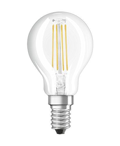 Osram LED Base Classic P Lampe, Sockel: E14, Cool White, 4000 K, 4 W, Ersatz für 40-W-Glühbirne, klar