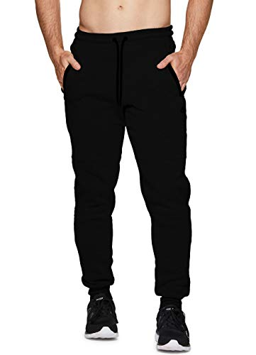 RBX Active Men's Running Workout Gym Joggers F18 Black Multi XL