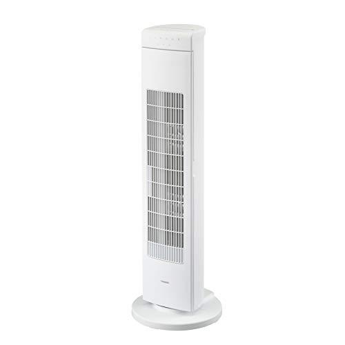 ツインバード扇風機タワーファン洗える3段階風量調節温度センサー自動運転機能オフタイマ―EF-D913Wホワイト