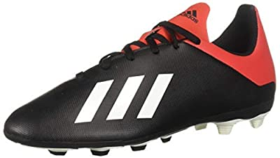 adidas Unisex-Kid's X 18.4 FxG Soccer Shoe, Solar Yellow/Black/Solar Yellow, 6 M US Big Kid