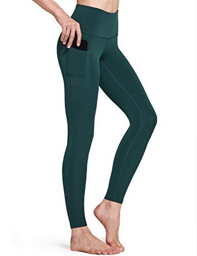 TSLA Women's Yoga Leggings, Mid/High Waisted Tummy Control Workout Leggings, 4 Way Stretch...