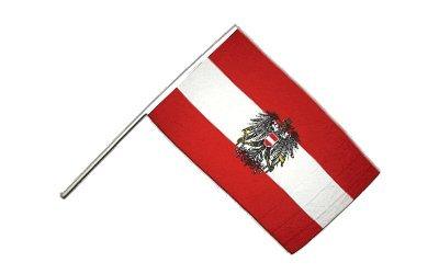 Flaggenfritze® Große Stockflagge Schwenkflagge Österreich mit Adler 60 x 90 cm