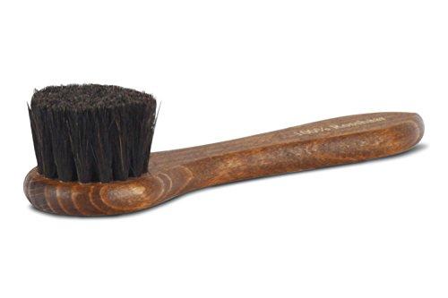 Langer & Messmer cepillo crema hecho 100% de crin de caballo para aplicar cera y crema de zapatos: el cepillo para el cuidado profesional del calzado