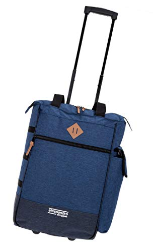 Alessandro Einkaufsroller Shoppingtrolley Einkaufstrolley Shopper (Two Tone Blue)