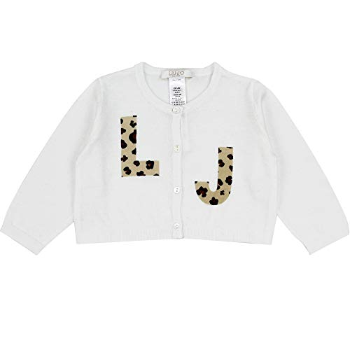 LIU.JO Liu Jo Cardigan Baby Girl Bianco in Cotone HA1048MA47J10601B Bianco 3M