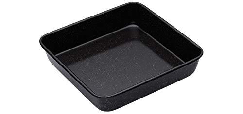 masterclass Quadratische Professional Glasemaille-Backform, Emaille, Schwarz, 23 x 23 x 4 cm