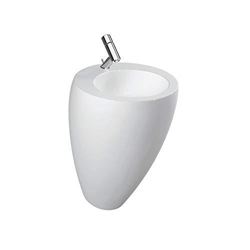 Laufen Waschtisch mit integrierter Säule Alessi ONE mittig 520x530 LCC weiß, 8119714001041