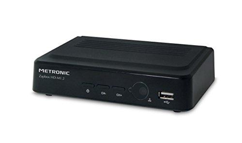 Metronic Zapbox HD-M1.1 - Reproductor/sintonizador (Terrestrial, NTSC, 1080i, 576i, 576p, 720p, MPEG1, MPEG2, MPEG4, MP3, OGG, BMP, JPG) (importado)