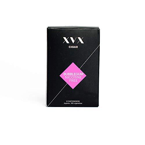 XVX CIGAR Refill - Electronic Cigar Refill - Bubblegum Flavour - 1800 Puffs Per 2 Pack - 900 Puffs Per Cartridge - E Cigarette - E Cigarettes Shisha - Nicotine Free