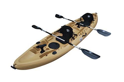BKC TK219 12.2' Tandem Fishing Kayak W/Soft Padded Seats, Paddles,6...