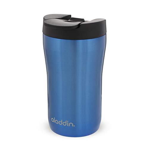Aladdin Latte Leak-Lock Stainless Steel Mug 0.25L niebieski – Kubek zpróżniowymi podwójnymi ściankami - Pasuje do większości ekspresów do kawy - Kubek podróżny bez BPA - Do mycia wzmywarce