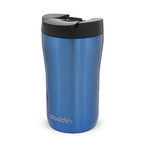 Aladdin Latte - Vaso de acero inoxidable (0,25 L), color azul