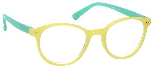 La Compañía Gafas De Lectura Verde Claro Con Bordes Verdes Acabado Mate Ligero Lectores Estilo Diseñador Mujeres Señoras R25-6 Dioptria +3,50