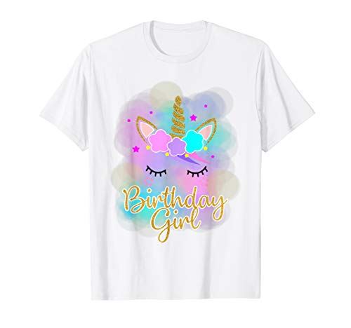 Einhorn Mädchen Shirt Geburtstag Colorful Cute Einhorn Kinder