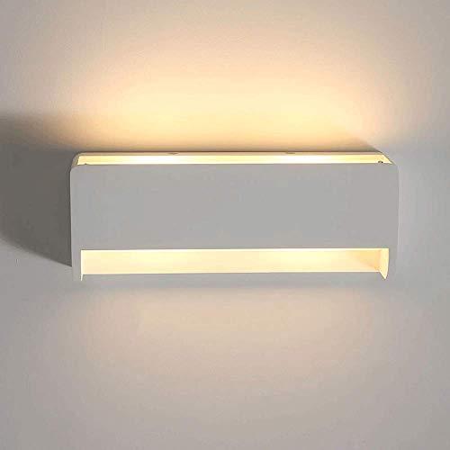 Lámparas de pared creativas, iluminación de pared posmoderna blanca con acabado de yeso, aplique de luces de decoración del hogar...