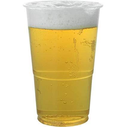 Real Accessories Einweg-Biergläser (halbes Pint) aus Kunststoff, ideal für Partys und alle Arten von Veranstaltungen und Feiern, 50 Stück