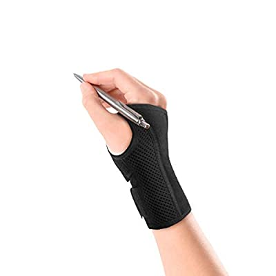 TaiRun Wrist Brace Carpal Tunnel Wrist Braces Wrist Guards Wrist Splint Right Hand for Women, Bowling, Sports with Splint - M Size Black