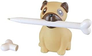 Pug Pen Holder & Bone Pen - Novelty Desk Supplies