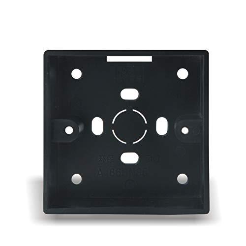 Interruptor de Pared Tipo 86 Retro Cambio de lámpara de Pared Negro Palanca de latón Doble Control Doble 1-4 Cambio de Palanca de Gang 2 Way (Color : 86 Type Mounted Box)