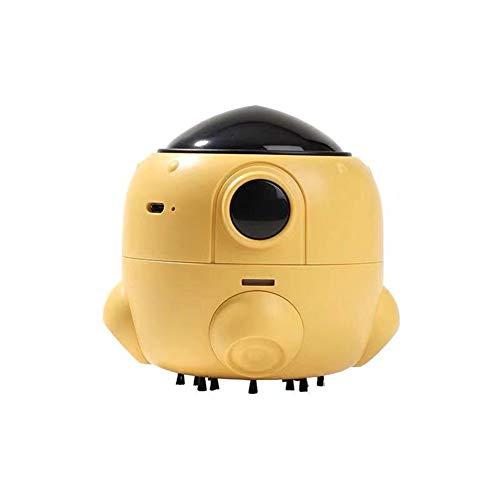 DDZHE Mini-handstofzuiger voor op het bureau, accu-stofzuiger voor leuke cartoon-raketten. geel