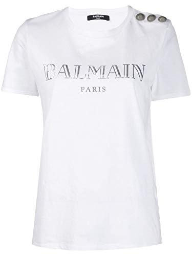 Balmain Luxury Fashion Damen TF11350I366GAC Weiss T-Shirt |