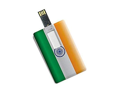 SMKT™ Credit Card Indian Flag Printed High Speed 32GB Data Storage/Pen Drive