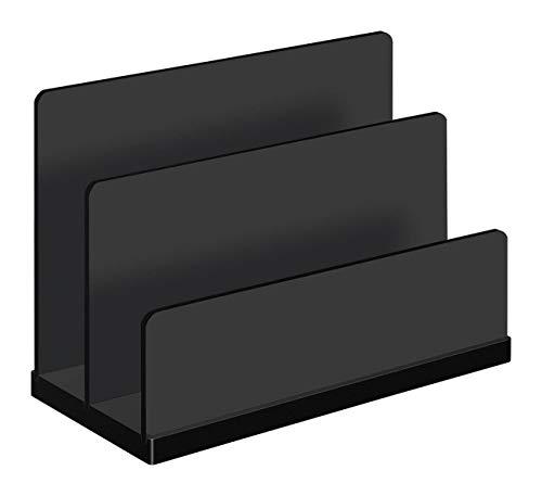 Wedo 0633001 - Portacartas acrílico con 2 compartimentos, c