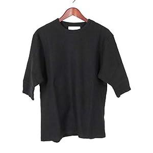 [クロ] Tシャツ HONEYCOMB HALF SLEEVE TEE ハニカムハーフTシャツ 半袖 (五分袖) 鹿の子 カットソー 962140 ブラック メンズ 1