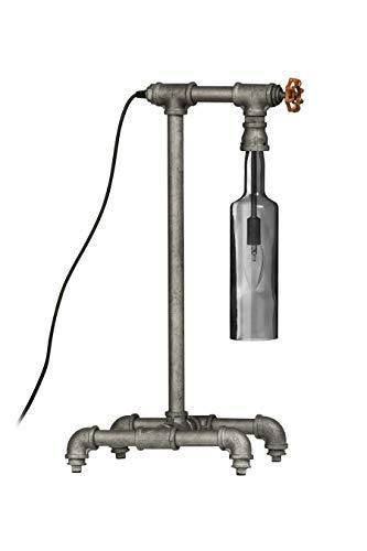 Premier prem-2501788 Vloerlamp, Glas/Metaal, Zilver