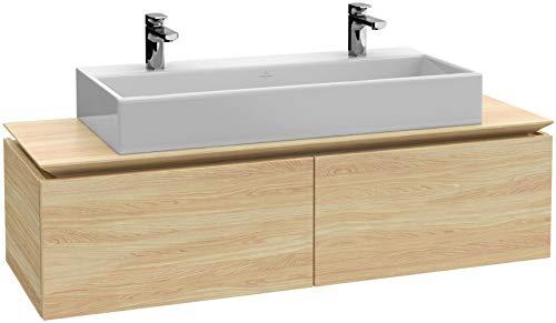 Villeroy & Boch Legato Waschtischunterschrank B141L0, 1200x380x500mm, Waschtisch mittig, LED- Beleuchtung, Farbe: White Wood