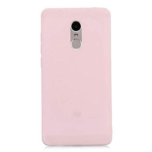 cuzz Funda para Xiaomi Redmi Note 4+{Protector de Pantalla de Vidrio Templado} Carcasa Silicona Suave Gel Rasguño y Resistente Teléfono Móvil Cover-Rosa Claro