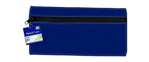 Large Flat Neoprene Pencil Case Blue 27 x 14cm