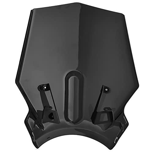 Parabrisas de Motocicletas Protector de Parabrisas de Motocicleta para H&Onda CB125R CB250R CB300R CB 125R 250R 300R 2018 2019 2020 Deflector de Viento (Color : A)